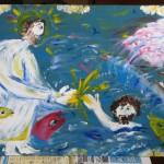 Христос спасает Петра
