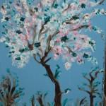 цветущее дерево (яблоня)