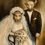 Минотавры.Свадебная фотография. холст масло 80х90