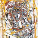 Психоделическая художница. Линеарный портрет.