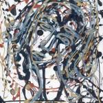 Девушка с серебряными волосами. Линеарный портрет.