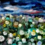 Поле одуванчиков. 55х75, х.м. 2010г. (Field of dandelions. Oil on canvas)