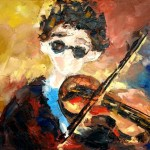 Скрипач. 65х60, х.м., 2008г. (Violinist. Oil on canvas)