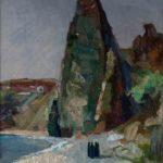 """Гора ""Монах"", Крым, Фиолент, 2009 год, холст, масло, 70Х50 см"