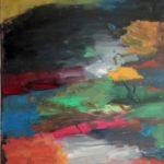 Пейзаж (речка, бегущая с горы). Масло, холст, 50х70. 2010 г.