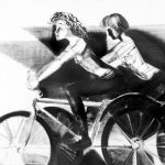 Велосипедистка. Холст, масло. 2017